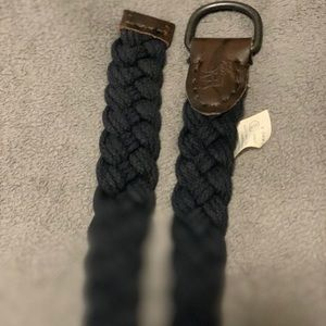 Abercrombie & Fitch navy braided belt